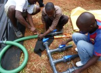 Connecting up the gas pipework